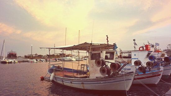 Fishing boats | Hotel Villa Sevasti